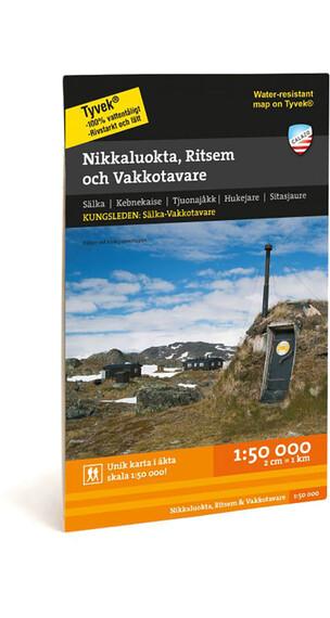 Calazo Nikkaluokta, Ritsem & Vakkotavare 1:50.000